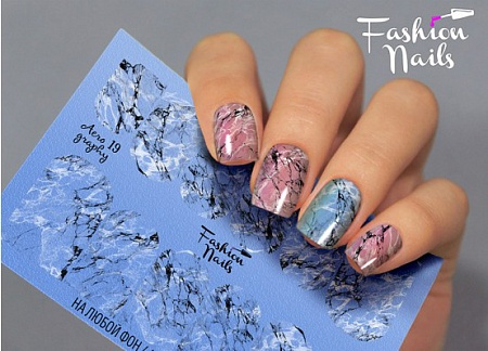 Слайдер дизайн Fashion nails аэрография №19