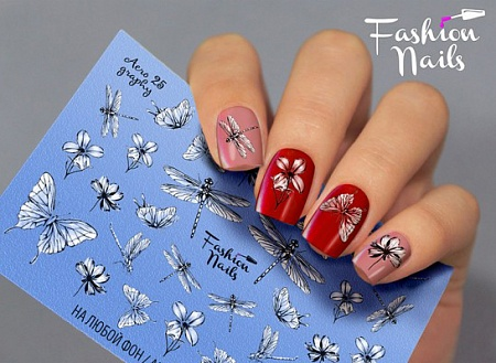 Слайдер дизайн Fashion nails аэрография №25